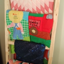 vintage quilts quilt ladder