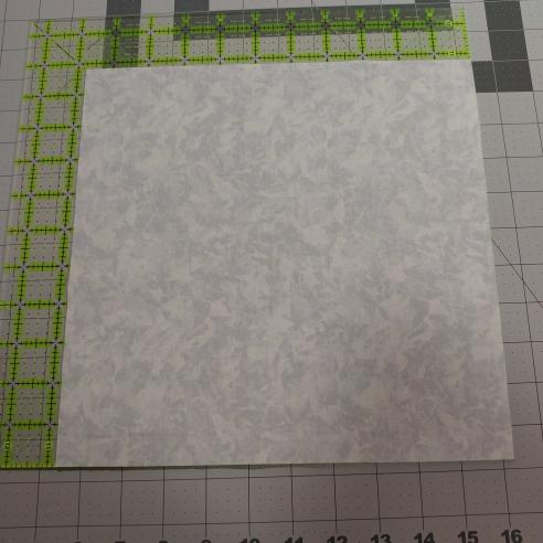 corner quilt label step one cut a square