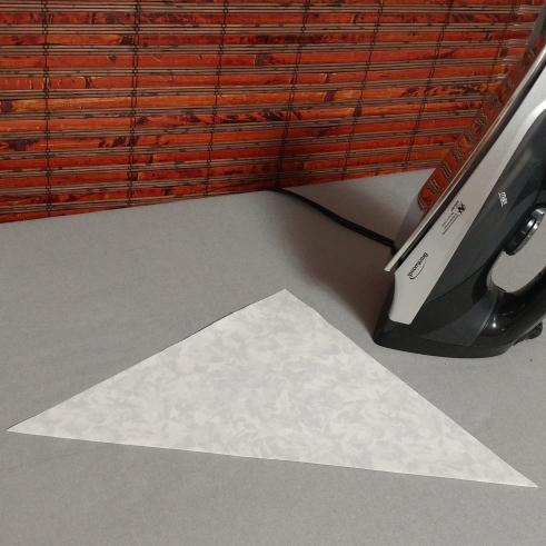 corner quilt label pressed