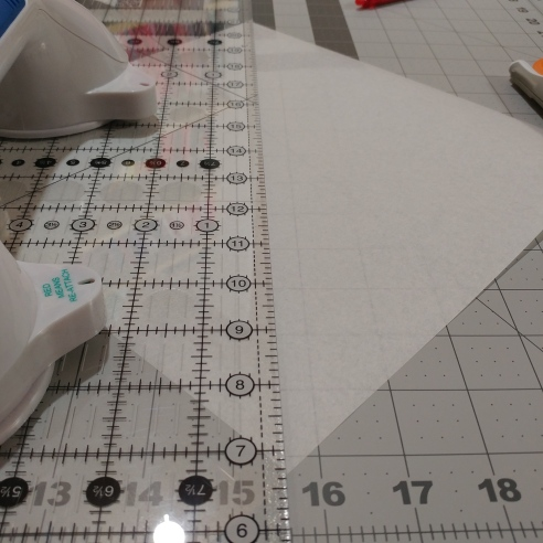 corner quilt label cut a triangle out of stabilizer